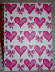 Love Pink Hearts Stationary Available in A5 or A6 HardBack Notebook & Weekly Planner.